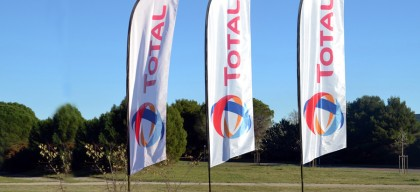 drapeau publicitaire Sea gamme Event OutDoor Display