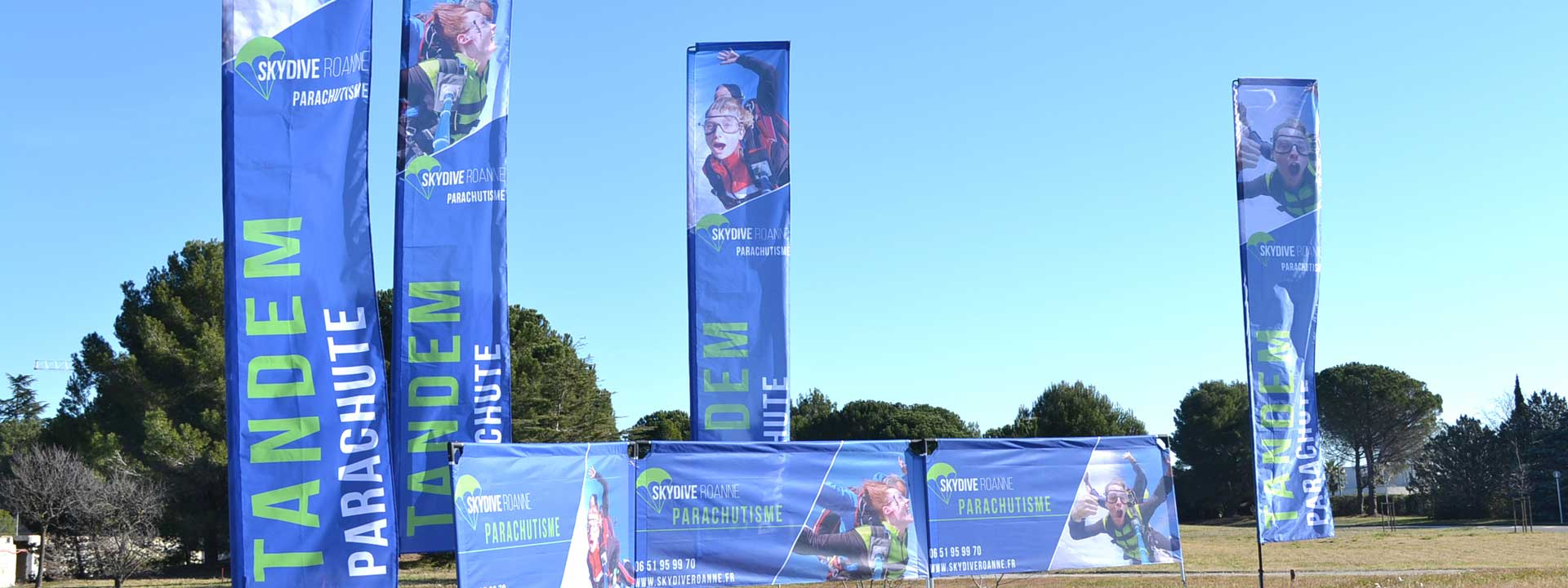 Exemple PLV Skydive par Outdoor Display