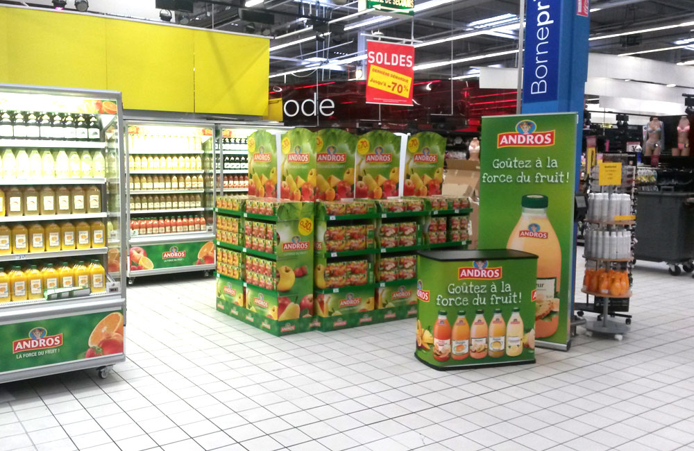drapeau-publicitaire-bar-a-jus-carrefour-outdoor-display