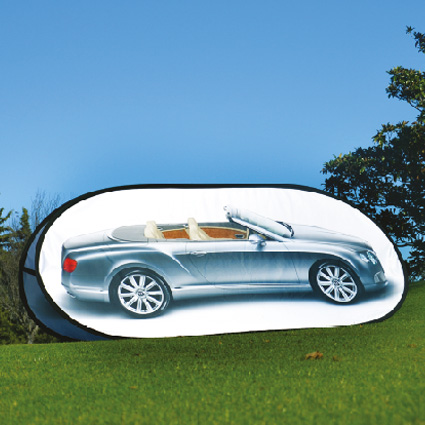 Pop-Up-publicitaire-ovale Outdoor-display