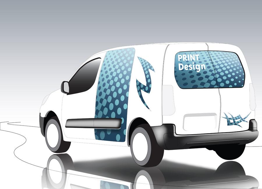 PLV adhésif publicitaire pour véhicule Outdoor Display