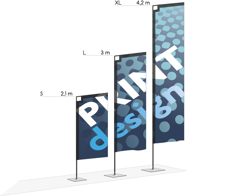 Drapeau publicitaire HIT - Outdoor display