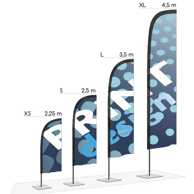 Dimensions drapeau sea Outdoor Display