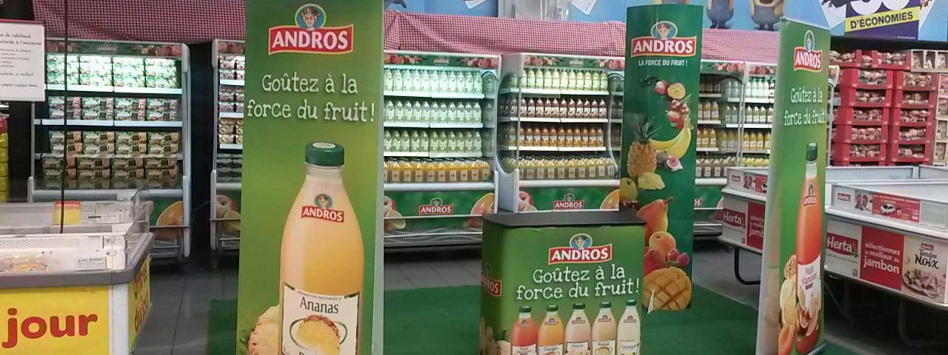 Exemple PLV Carrefour par Outdoor Display