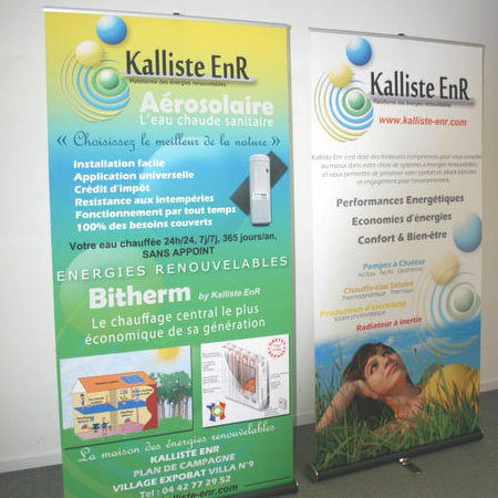 Kakemonos roll-up publicitaire personnalisable Outdoor Display