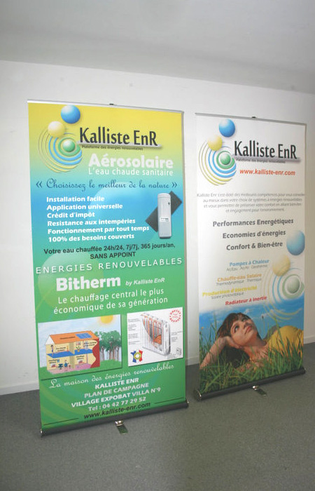 Roll up kakemono Outdoor Display