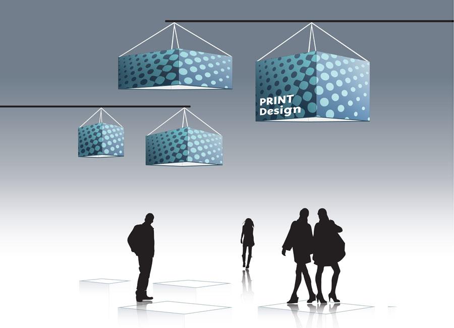 Suspension rectangulaire Outdoor Display