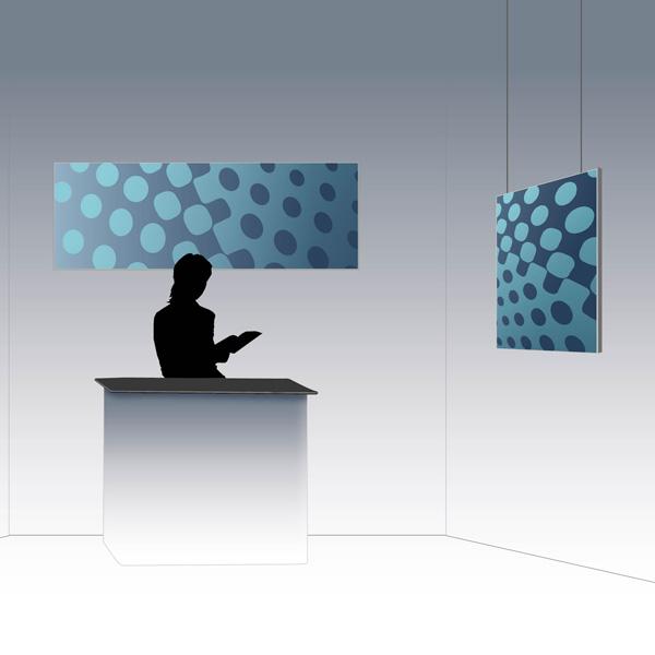 cadre alu publicitaire PLV Outdoor Display